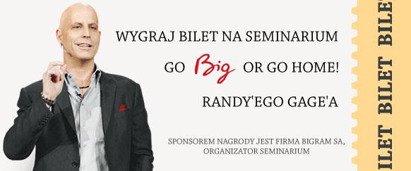 Wygraj bilet naseminarium Randy'ego Gage'a